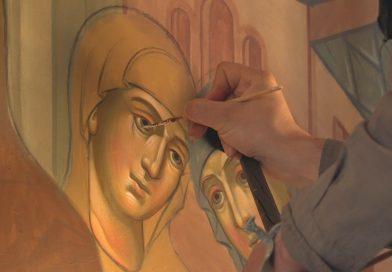 Роспись стен началась вхраме великомученика Феодора Стратилата